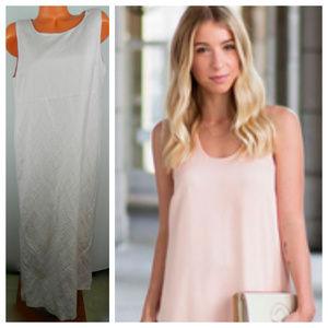 POSITIVE ATTITUDE Maxi DRESS 16 XL 1X Pink Linen